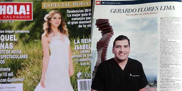 Publiación en Revista Hola Dr. Gerardo Flores-Lima